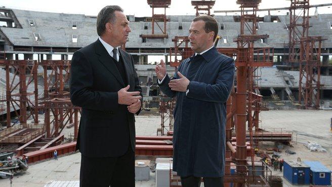 С главой Минспорта Виталием Мутко