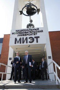 С ректором национального исследовательского университета «МИЭТ» Юрием Чаплыгиным