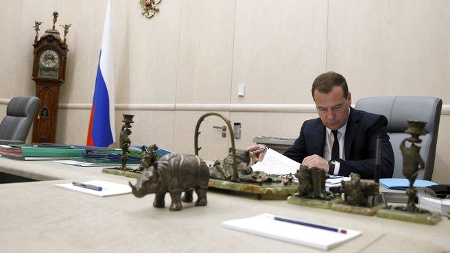 Москва, Дом Правительства, рабочий кабинет Председателя Правительства