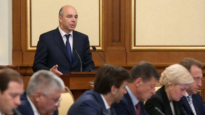 Доклад главы Минфина Антона Силуанова на заседании Правительства