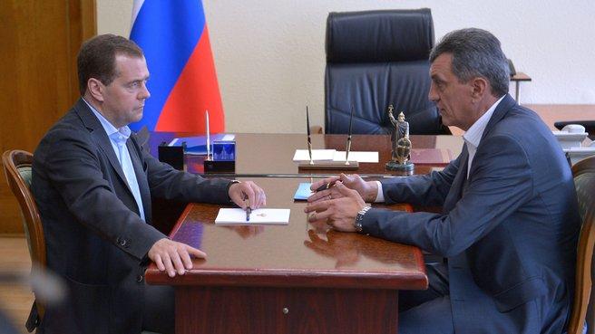 Встреча с исполняющим обязанности губернатора Севастополя Сергеем Меняйло