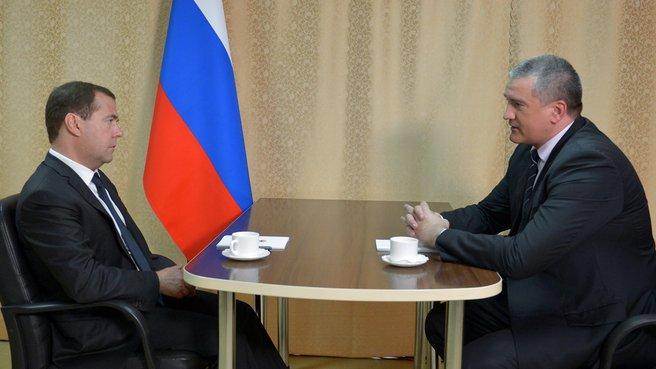 Встреча с временно исполняющим обязанности главы Республики Крым Сергеем Аксёновым