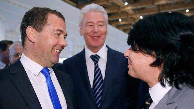 С мэром Москвы Сергеем Собяниным и модельером Валентином Юдашкиным