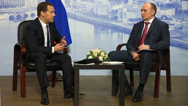 Беседа с временно исполняющим обязанности губернатора Челябинской области Борисом Дубровским