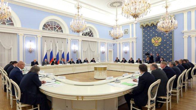 Встреча с членами бюро правления Общероссийского объединения работодателей «Российский союз промышленников и предпринимателей»