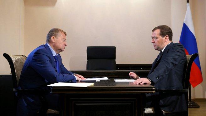 Встреча с главой Республики Марий Эл Леонидом Маркеловым