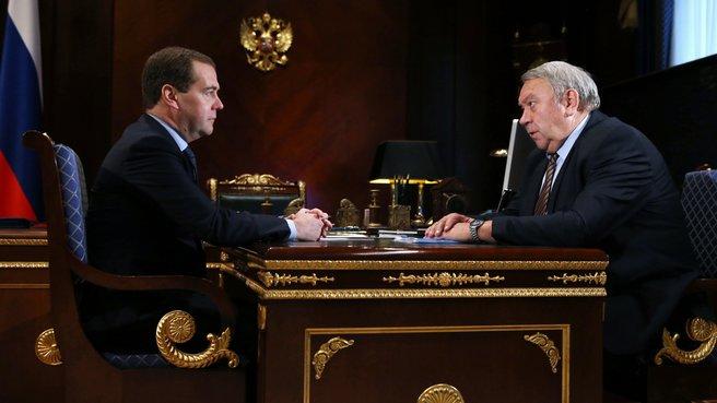 Встреча с президентом Российской академии наук Владимиром Фортовым