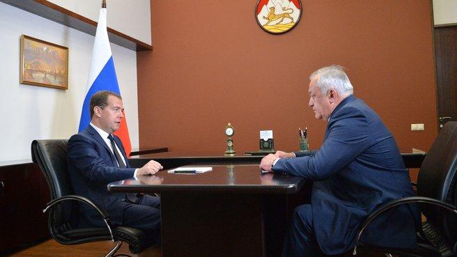 Беседа с главой Республики Северная Осетия – Алания Таймуразом Мамсуровым