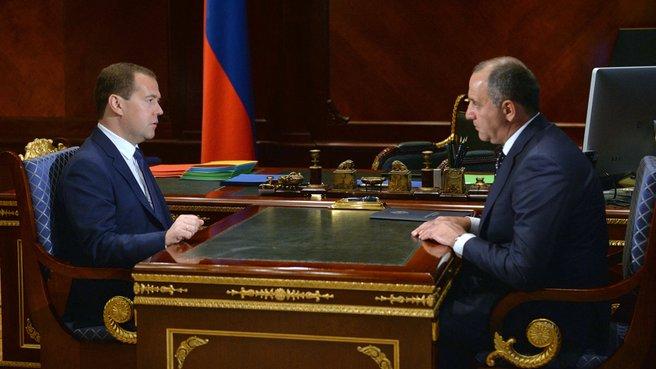 Встреча с главой Карачаево-Черкессии Рашидом Темрезовым
