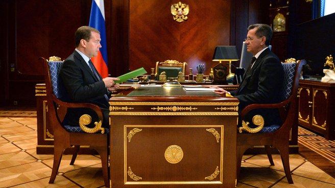 Встреча с губернатором Астраханской области Александром Жилкиным