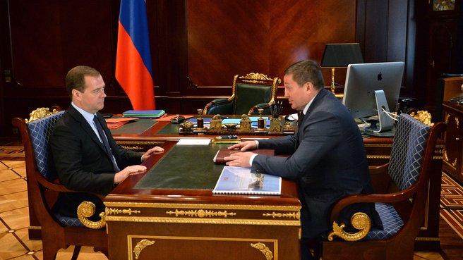 Встреча с временно исполняющим обязанности губернатора Волгоградской области Андреем Бочаровым