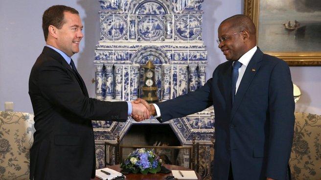 Встреча с Премьер-министром Мозамбика Алберту Вакина