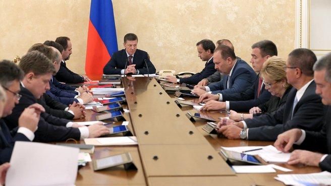 Совещание о социально-экономическом развитии Крыма