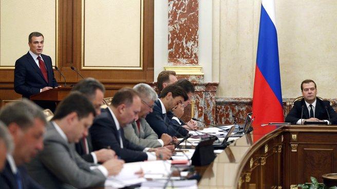 Доклад Министра по делам Крыма Олега Савельева на заседании Правительства