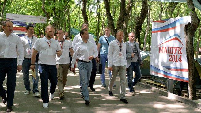 Посещение Северо-Кавказского молодёжного форума «Машук-2014»