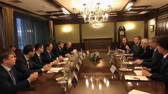 Рабочая встреча Алексея Гордеева с заместителем председателя германского Совета по устойчивому развитию Клаусом Тёпфером