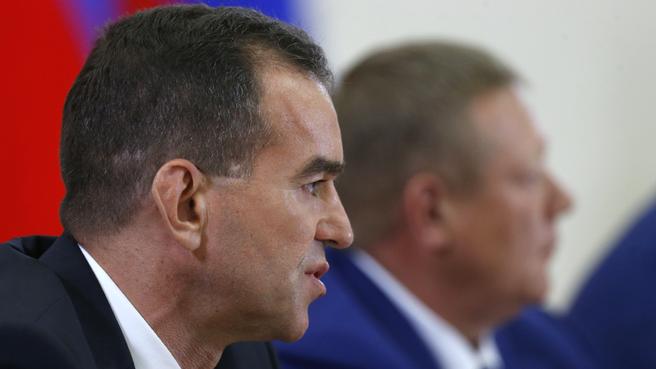Сообщение временно исполняющего обязанности главы администрации (губернатора) Краснодарского края Вениамина Кондратьева