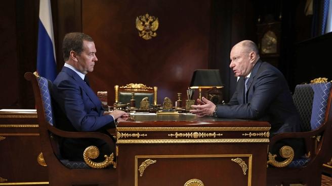 Встреча с президентом, председателем правления ГМК «Норильский никель» Владимиром Потаниным