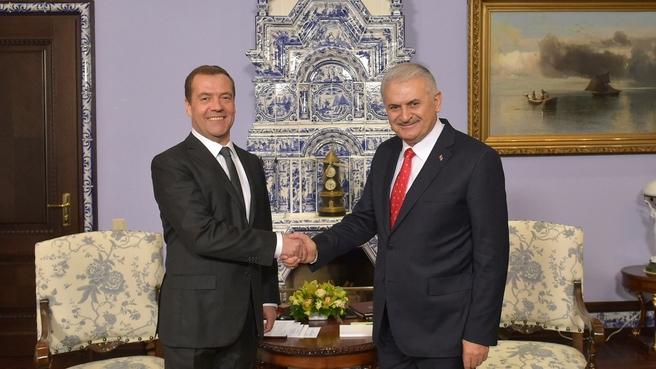 Встреча с Премьер-министром Турции Бинали Йылдырымом