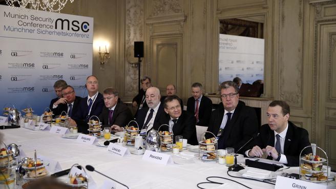 Встреча с представителями деловых кругов России и Германии в рамках Мюнхенской конференции по вопросам политики безопасности