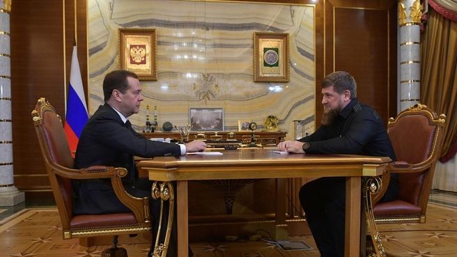 Встреча с главой Чеченской Республики Рамзаном Кадыровым