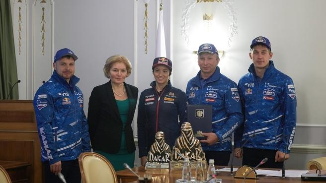Встреча Ольги Голодец с командой «КАМАЗ-мастер»