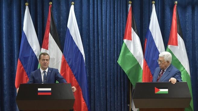 Совместная пресс-конференция Дмитрия Медведева и Махмуда Аббаса