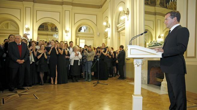 Выступление на церемонии открытия Большого драматического театра имени Г.А.Товстоногова