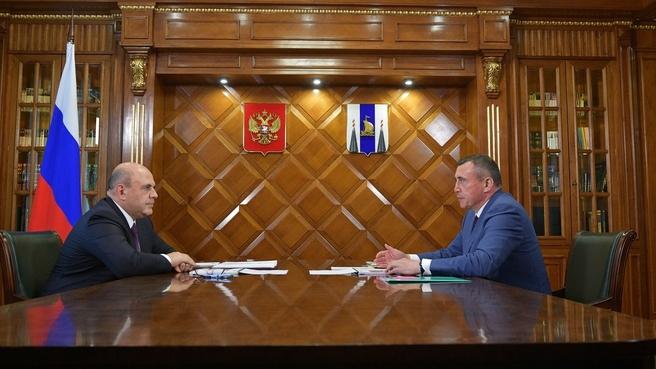 Беседа Михаила Мишустина с губернатором Сахалинской области Валерием Лимаренко