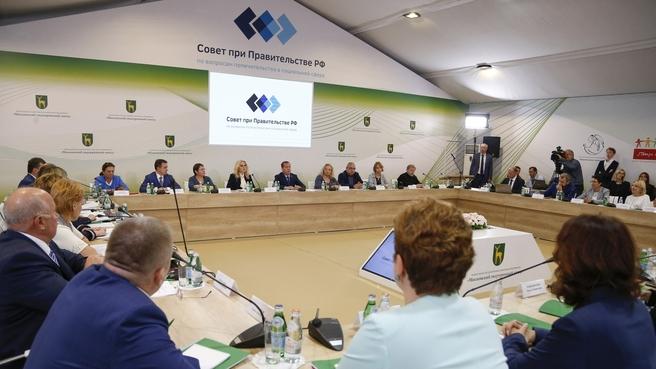 Заседание Совета при Правительстве по вопросам попечительства в социальной сфере