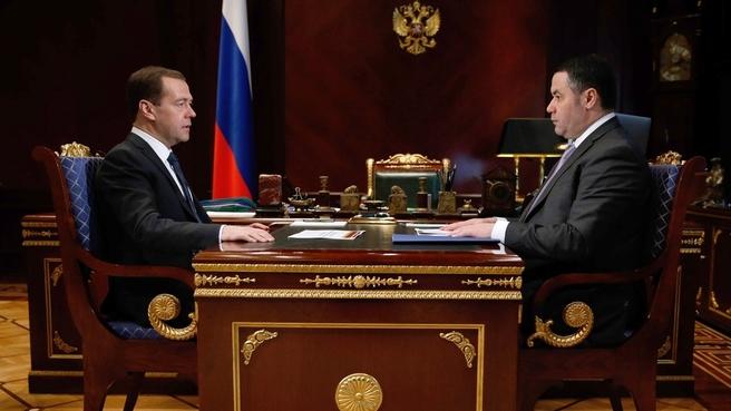 Встреча с временно исполняющим обязанности губернатора Тверской области Игорем Руденей