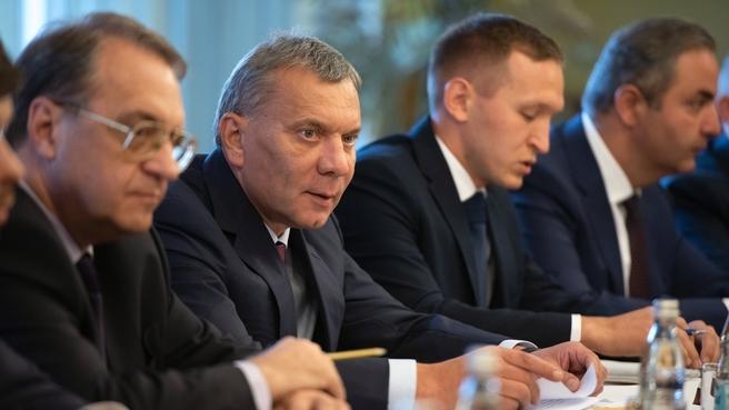 Юрий Борисов на встрече с Заместителем Председателя Совета министров, Министром иностранных дел и по делам соотечественников Сирии Валидом Муаллемом
