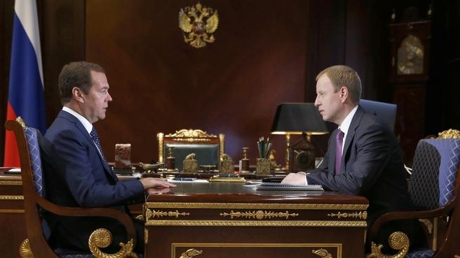 Встреча с временно исполняющим обязанности губернатора Алтайского края Виктором Томенко