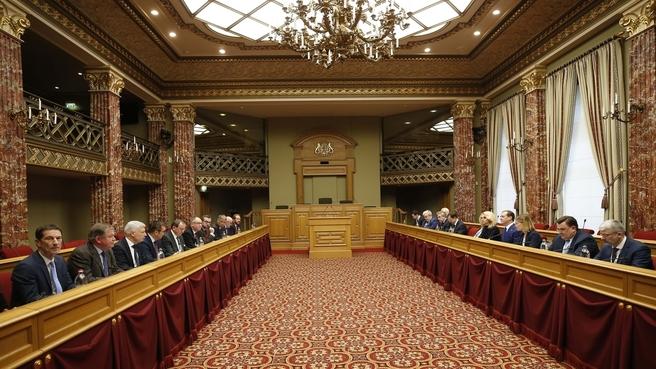 Встреча с Председателем Палаты депутатов Люксембурга Фернаном Этженом