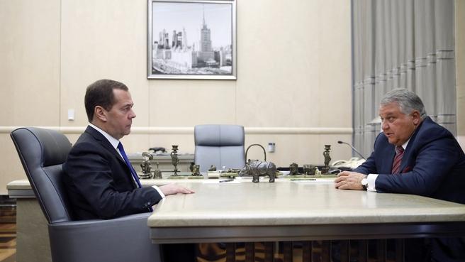Встреча с президентом Национального исследовательского центра «Курчатовский институт» Михаилом Ковальчуком