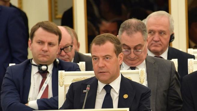 Выступление Дмитрия Медведева на заседании Совета глав правительств государств-членов ШОС в расширенном составе