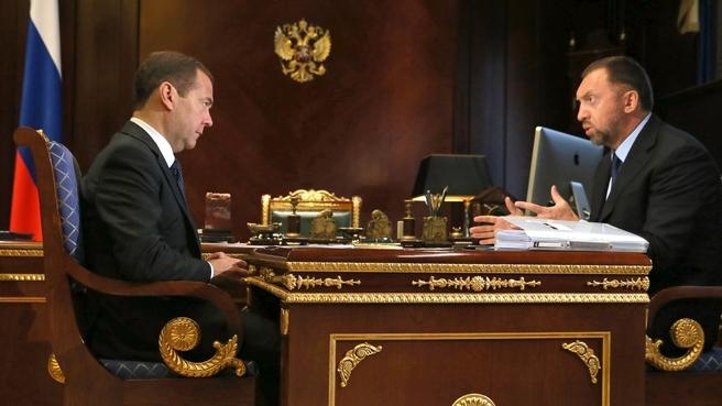 Встреча с председателем наблюдательного совета группы компаний «Базовый элемент» Олегом Дерипаской