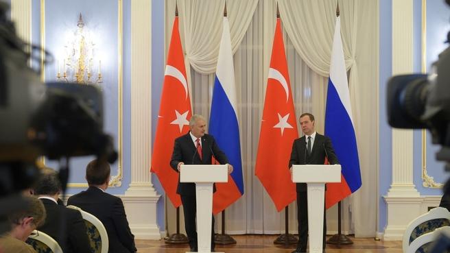 Пресс-конференция Дмитрия Медведева и Бинали Йылдырыма по итогам переговоров
