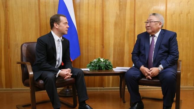 Встреча с главой Республики Саха (Якутия) Егором Борисовым
