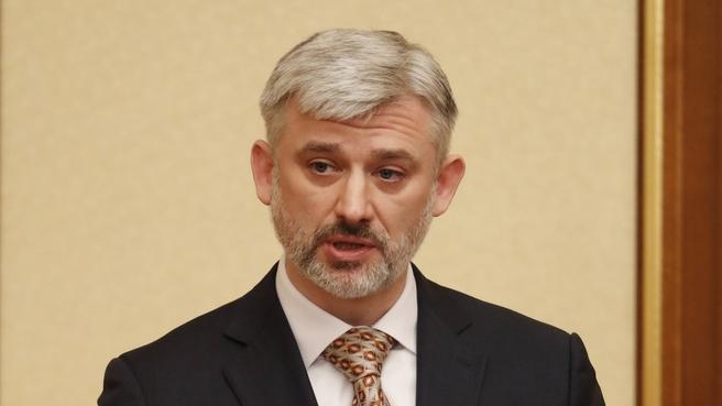 Евгений Дитрих на заседании Правительства