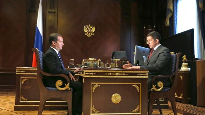 Встреча с президентом ПАО «Ростелеком» Михаилом Осеевским