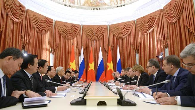 Беседа с Генеральным секретарём Центрального комитета Коммунистической партии Вьетнама Нгуен Фу Чонгом