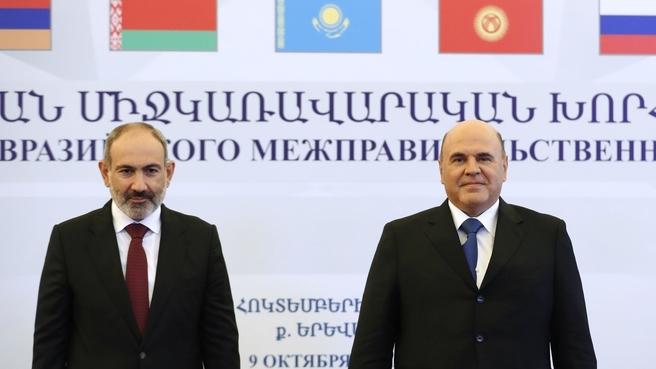With Prime Minister of the Republic of Armenia Nikol Pashinyan