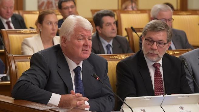 Сообщение заместителя председателя правления ПАО «Газпром» Валерия Голубева на заседании Правительства