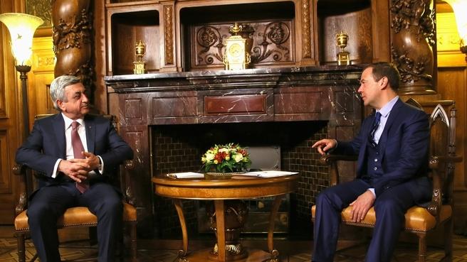 Встреча с Президентом Республики Армения Сержем Саргсяном