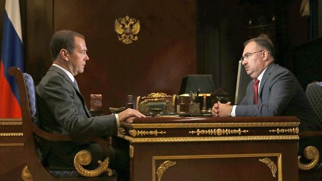 Встреча с председателем правления Пенсионного фонда Антоном Дроздовым