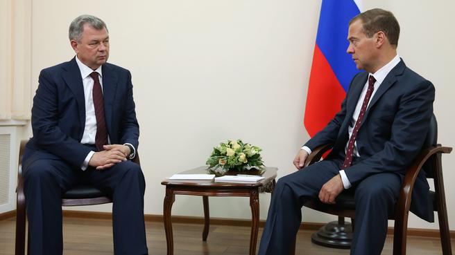 Встреча с временно исполняющим обязанности губернатора Калужской области Анатолием Артамоновым