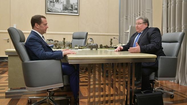 Встреча с главой Республики Мордовия Владимиром Волковым