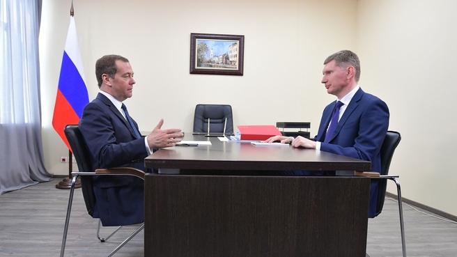 Встреча с губернатором Пермского края Максимом Решетниковым