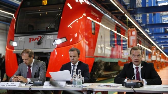 Совещание о развитии пассажирских железнодорожных перевозок